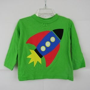 Long Sleeve Green Printed T-Shirt size 18 Month
